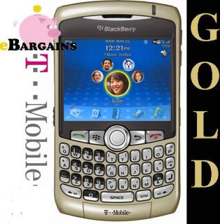 New Gold Rim Blackberry Curve 8320 WiFi Unlocked GSM WiFi Cell Phone T