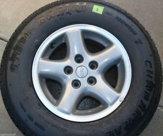 15x7 JEEP XJ Cherokee OEM 5 Spoke Alloy Wheel W Tire 235 75R15 5 AVAIL
