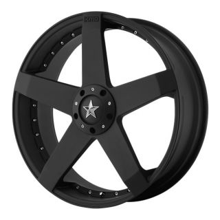 ROCKSTAR CAR KM77588031742 18X8 42MM OFFSET 5X100 4 5 MATTE BLACK RIM
