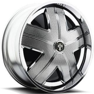 DUB SPIN HAM Wheel SET Chrome Spinner 24x9.0 RWD 5 & 6 LUG RIMS 24inch