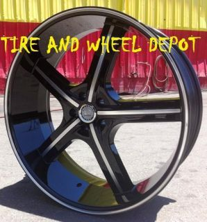 24 inch U255B Rims and Tires Wheels Chevy Truck 5x127 C 10 Tahoe