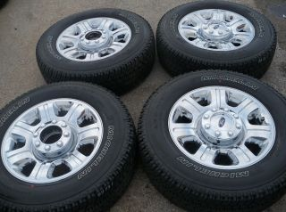 Ford Truck F250 F350 20 Chrome Clad Wheels and Tires Michelin