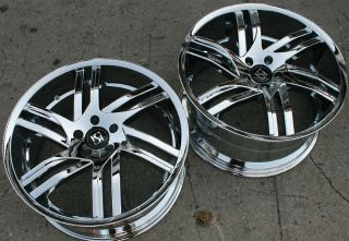 Koko KOUTURE Spline 20 Chrome Rims Wheels Lexus RX 400H