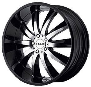 American Racing 85122052340 Helo Series 851 Black Wheel