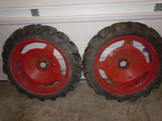 Gibson Model D Garden Tractor Rear Wheels and Tires