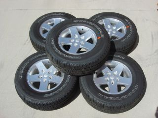 Wrangler UNLIMITED 17 INCH Alloy Wheels and Goodyear Tires OEM Mopar