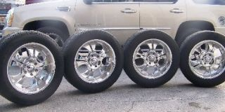 Boss Motorsports 301 Chrome Rims 6 Lug Chevy GM 20 x 8 5 Nitto Tires