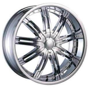 20 Wheels Rims Package Free Tires Velocity V800 Chrome Deep Lip 6x139