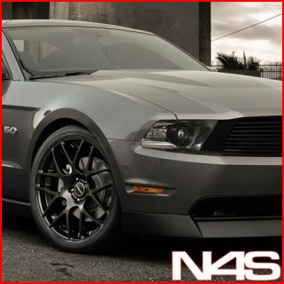 MUSTANG GT AVANT GARDE M310 CONCAVE MATTE BLACK STAGGERED WHEELS RIMS