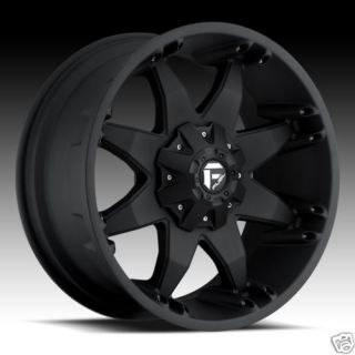 Octane Flat Black XD Tires Rims Ford Truck Wheels Nitto Tires