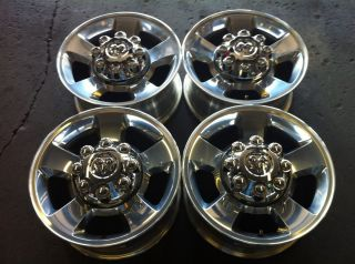 RAM 2500 3500 17 05 09 4 OEM FACTORY POLISHED ALLOY RIMS WHEELS 2187