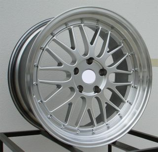 Style Staggered Set Up Hyper Silver Wheels Rims Fit Pontiac GTO