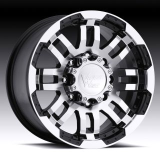 5X127 BLACK VISION WARRIOR WHEELS RIMS 5 LUG ASTRO VAN GMC SAFARI 1500