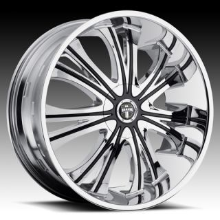 28 Dub Mamba Wheel Set 28x9 5 Chrome Rims for 5 6 Lug rwd Vehicles