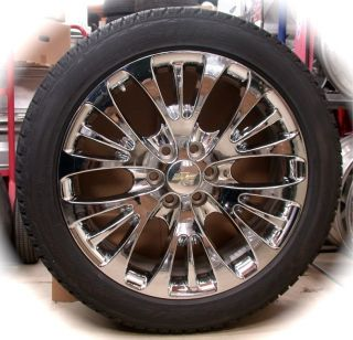 Sierra Cadillac Escalade Chrome 22 Wheels Rims Tires CK366