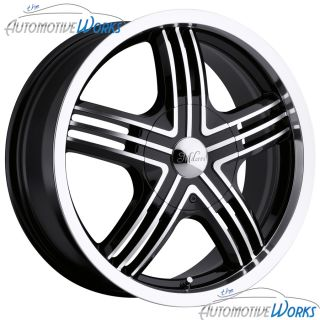 Milanni Stealth 5x100 5x114 3 5x4 5 40mm Black Machined Wheels Rims 16