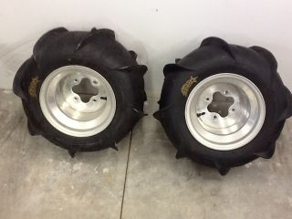 ITP Sand Star Paddle Tires w Wheels 20x11x10 450R LTR450 KFX450 250R