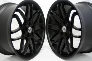 Black 350Z 370Z Concave 20 Inch Wheels, 20x10 & 20x8.5 Flat Black Rims