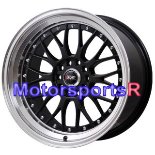 18 x 8 5 10 XXR 521 Black Machine Lip Rims Staggered Wheels Stance