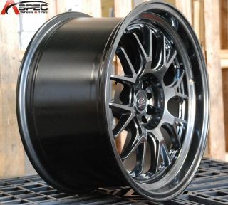 18x9 5 Rota MXR R 5x114 3 20 Hyper Black Wheel Fit EVO 7 8 x 350Z 370Z