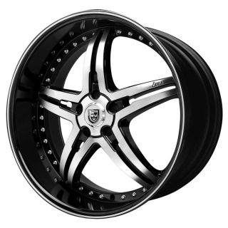 20 Lexani Wheels LX 15 Black Rims Tires Stagger 350Z BMW Camaro