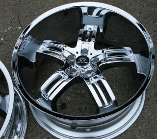 Lorenzo WL026 22 Chrome Rims Wheels Lexus LS430 Staggered