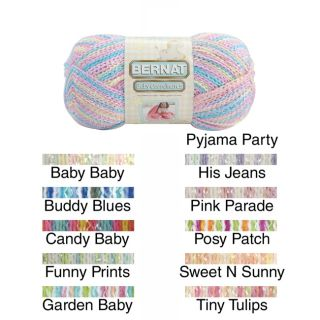 Baby Coordinates Yarn Ombres (AcrylicColors Pyjama party, baby baby, his jeans, buddy blues, pink parade, candy baby, posy patch, funny prints, sweet n sunny, garden baby, tiny tulipsCare instructions Machine wash tumble dry do not bleach do not iron do