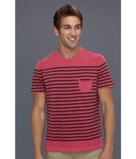 Lucky Brand Striped Pocket Tee Mens T Shirt (Red)