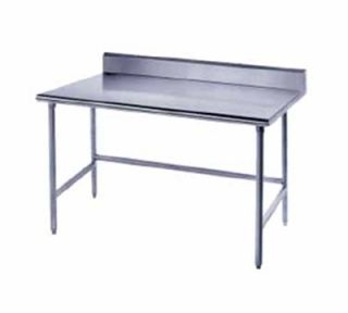 Advance Tabco 96 Work Table   Galvanized Legs, Rear Splash, 30 W, 16 ga 430 Stainless