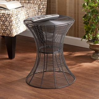 Upton Home Kayden Indoor/ Outdoor Silver Metal Accent Table