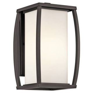 Kichler 49337AZ Outdoor Light, Transitional Wall Lantern 1 Light Fixture Architectural Bronze