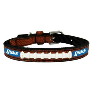 Detroit Lions Classic Leather Toy Football Collar