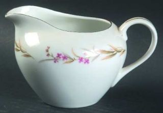 Fine China of Japan Prestige Creamer, Fine China Dinnerware   Purple Flowers, Gr