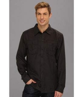 Mountain Hardwear Solid Flannel Twill Shirt Mens Long Sleeve Button Up (Gray)