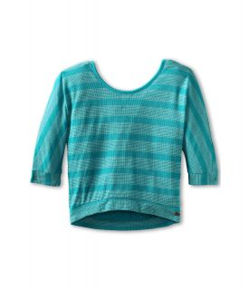 Roxy Kids Sound Off Top Girls Long Sleeve Pullover (Blue)