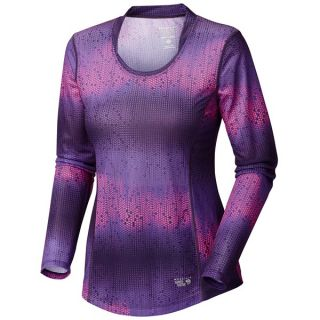 Mountain Hardwear Wicked Electric Shirt   Long Sleeve (For Women)   DARK PLUM (XL )