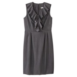 Merona Petites Sleeveless Sheath Dress   Gray 12P