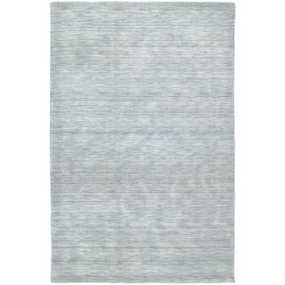 Gabbeh Hand tufted Light Blue Rug (76 X 9)