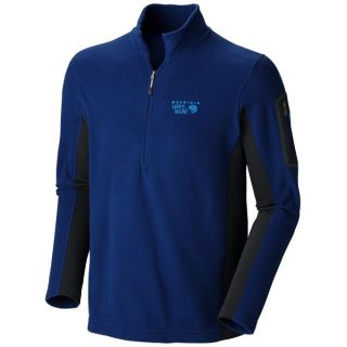 Mountain Hardwear Microstretch Fleece Shirt   Zip Neck  Long Sleeve (For Men)   COUSTEAU/SHARK (L )