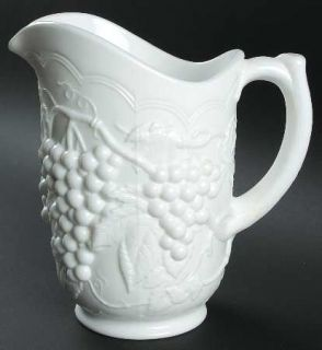 Imperial Glass Ohio Vintage Grape Milk Glass 48 Oz Pitcher   Milk Glass,Grape De