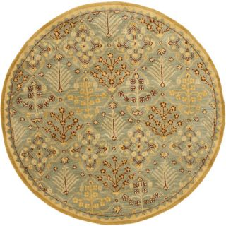 Safavieh Antiquities Light Blue / Gold AT613A Rug Size Round 8