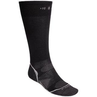 SmartWool 2013 PhD Ski Ultralight Socks   Merino Wool  Over the Calf (For Men and Women)   BLACK (M )