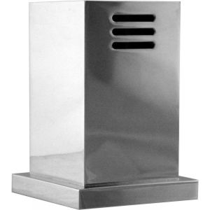 Westbrass D201 1S 20 Decorative Square Modern Heavy Duty Air Gap Cap