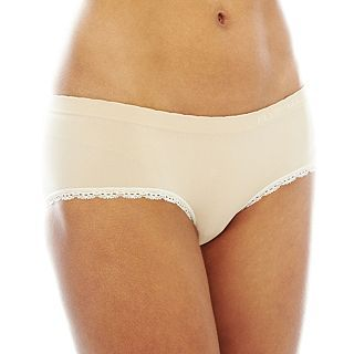 THE BODY Elle Macpherson Intimates Seamless Hipster Panties, Toast Almond Prist
