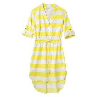 Merona Womens Drawstring Shirt Dress   Striped   L