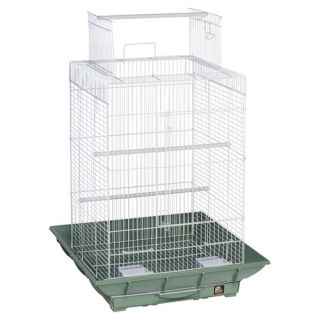 Prevue Hendryx Clean Life PlayTop Bird Cage SP851 Color Green / White