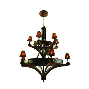 Kalco Lighting KAL 5832NI Aspen 12 Light Chandelier (Iron Ring)