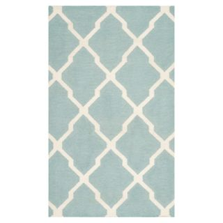 Safavieh Dhurries Light Blue/Ivory Rug DHU634C Rug Size 4 x 6