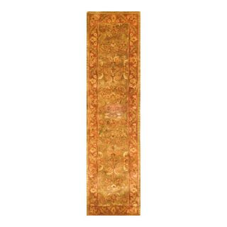 Safavieh Golden Jaipur Patina Green/Rust Rug GJ250A Rug Size Runner 23 x 12