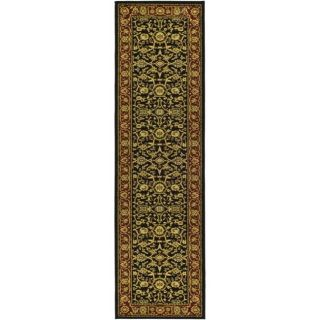 Lyndhurst Collection Majestic Black/ Red Runner (23 X 6)